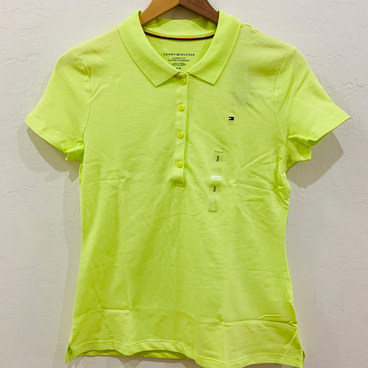 Tommy Hilfiger Regular Fit Essential Stretch Cotton Polo Shirt - Neon Lime, Size S