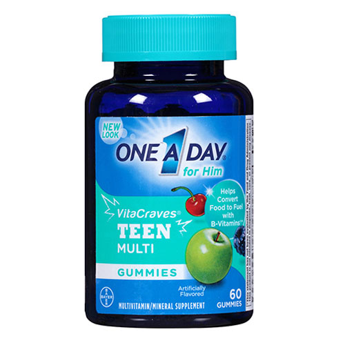 One A Day Teen For Him VitaCraves Gummies, 60 viên