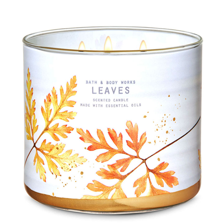 Nến thơm Bath & Body Works Leaves, 411g