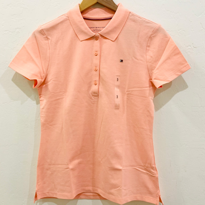 Tommy Hilfiger Regular Fit Essential Streth Cotton Polo Shirt - Light Coral, Size S