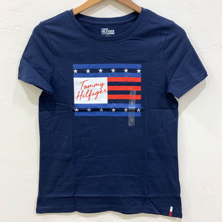 Tommy Hilfiger Essential Flag Logo T-Shirt -  Navy, Size XS