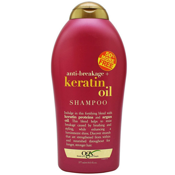 Dầu gội OGX Anti Breakage + Keratin Oil, 577ml