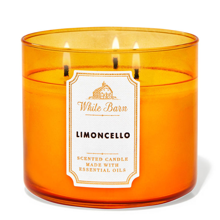 Nến thơm Bath & Body Works White Barn Limoncello, 411g