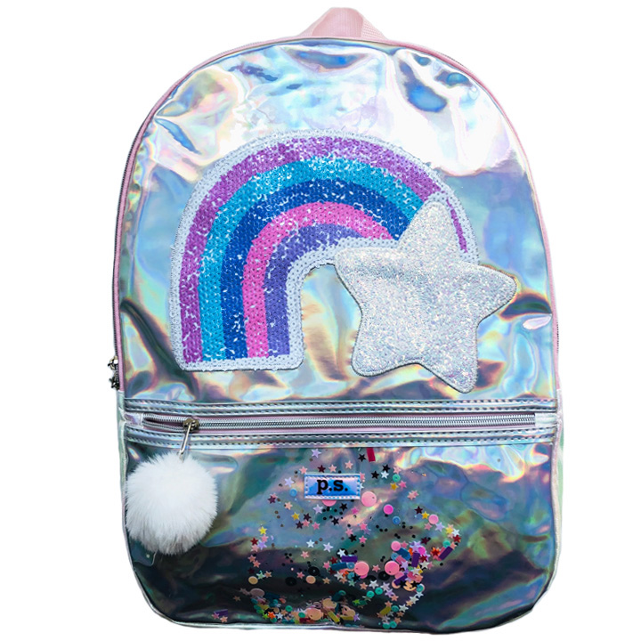 Balo Love 2 Design Sequin Rainbow with Star, Light Pink