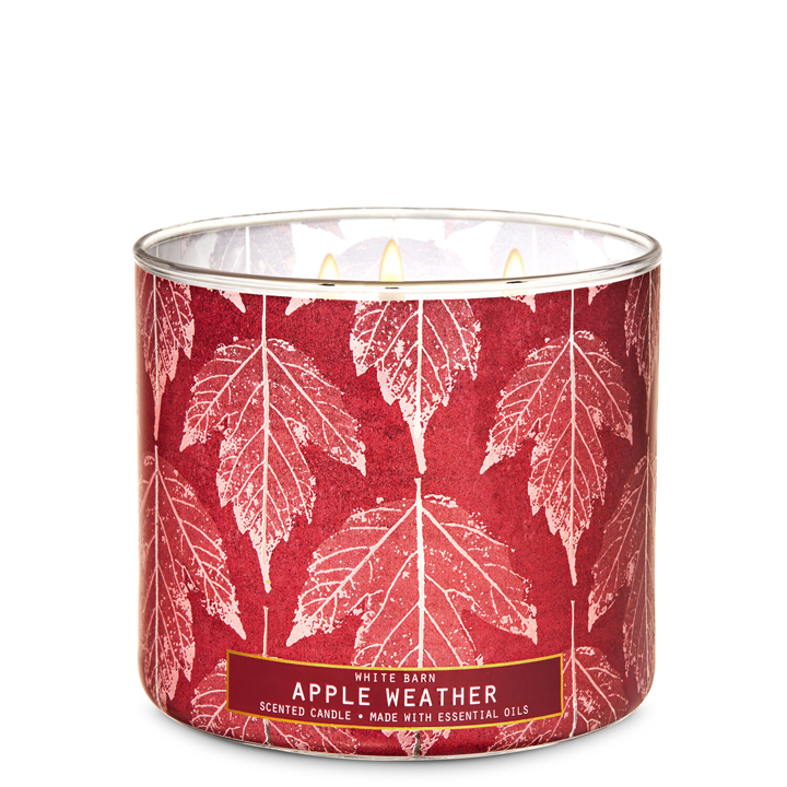 Nến thơm Bath & Body Works White Barn Apple Weather, 411g