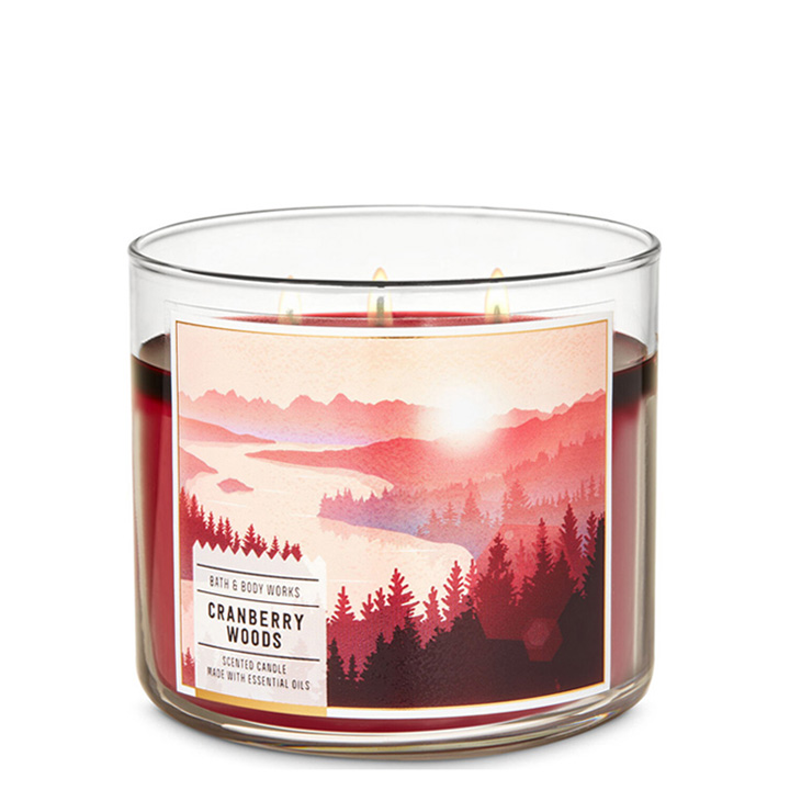 Nến thơm Bath & Body Works White Cranberry Woods, 411g