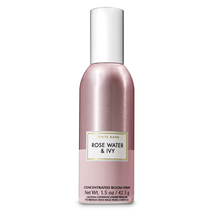Xịt thơm phòng Bath & Body Works White Barn Rose Water & Ivy, 42.5g