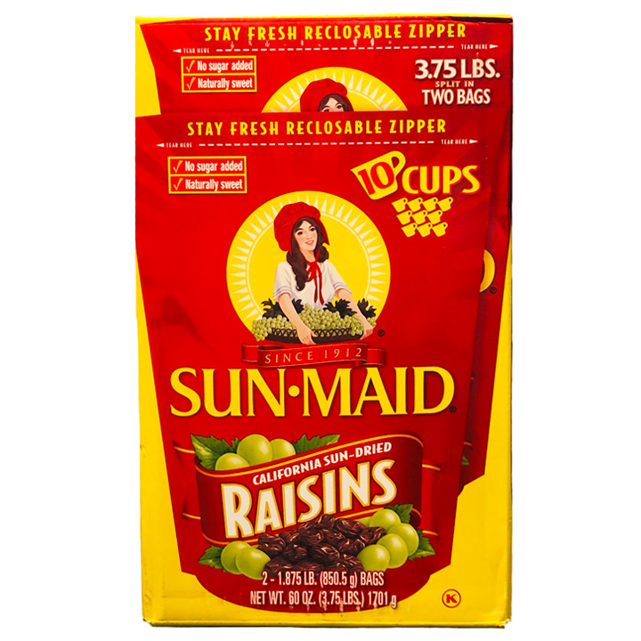 Sun- Maid California Sun- Dried Raisins, 2 x 850.5g