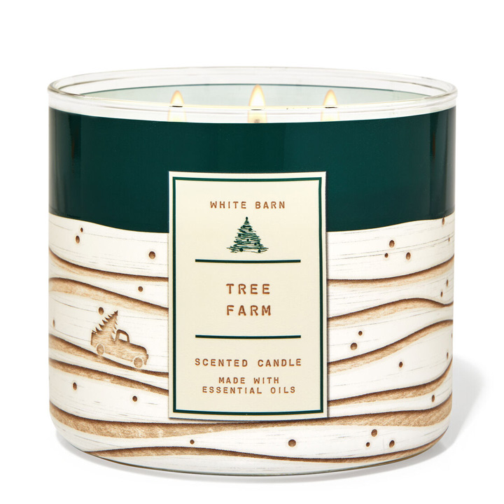 Nến thơm Bath & Body Works White Barn Tree Farm, 411g