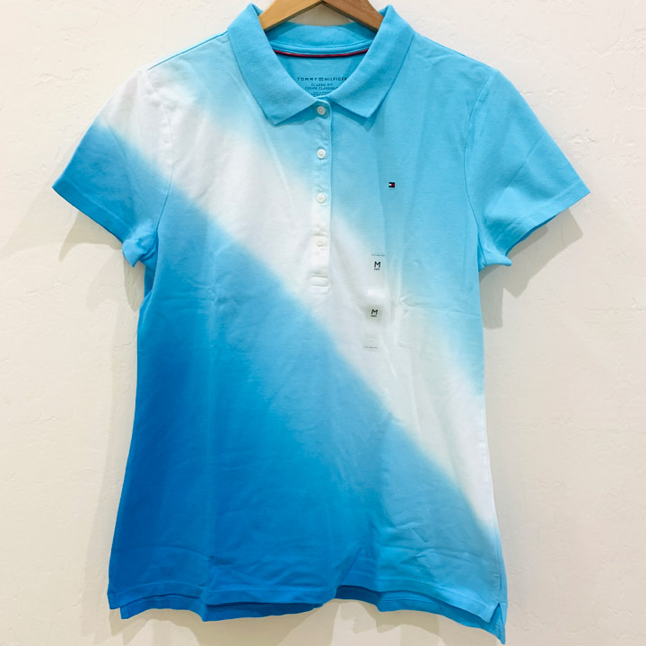 Áo Tommy Hilfiger White Combination Classic Fit Polo - Blue/ White/ Sky Blue, Size XS