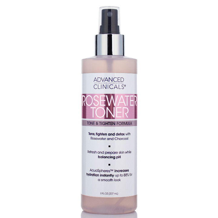 Toner Advanced Clinicals Rosewater, 237ml