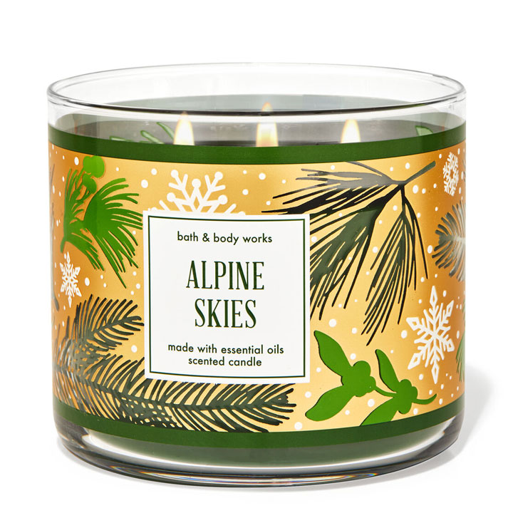 Nến thơm Bath & Body Works Alpine Skies, 411g