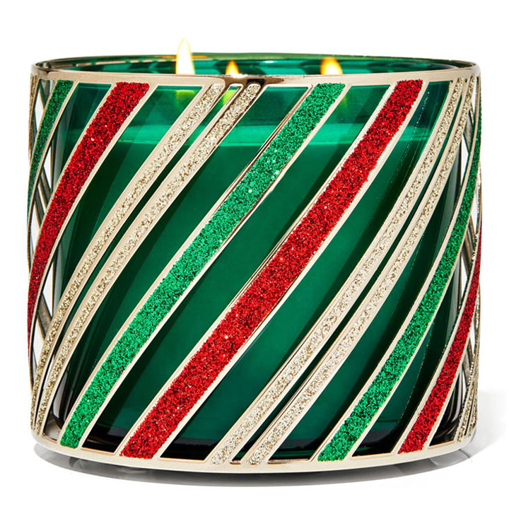Đế đỡ nến Bath & Body Works Holiday Stripes