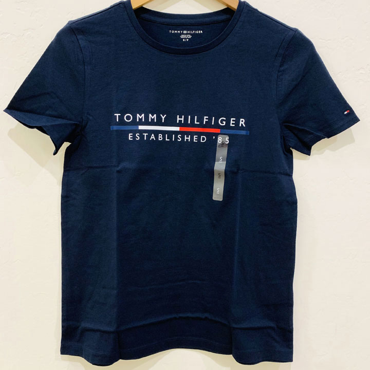 Áo Tommy Hilfiger Cotton Logo T-Shirt - Dark Navy, Size S
