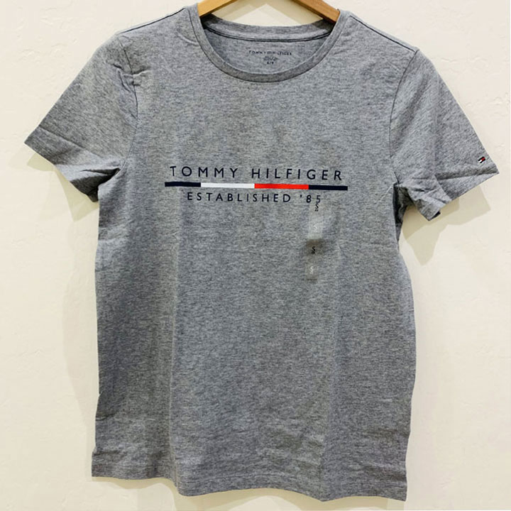 Áo Tommy Hilfiger Cotton Logo T-Shirt - Grey, Size M
