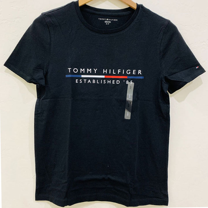Áo Tommy Hilfiger Cotton Logo T-Shirt - Black, Size L
