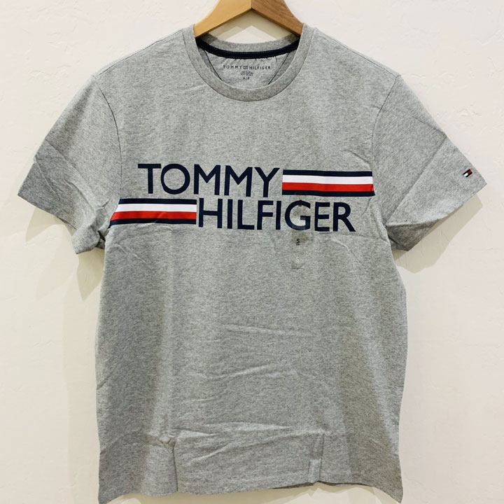 Áo Tommy Hilfiger Essential Logo T-Shirt - Grey Heather, Size L