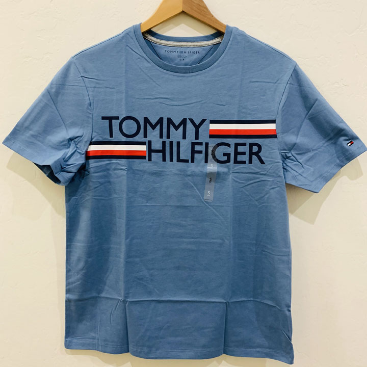 Áo Tommy Hilfiger Essential Logo T-Shirt - Light Blue, Size S