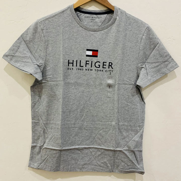 Áo Tommy Hilfiger Essential Hilfiger Logo T-Shirt - Grey Heather, Size L