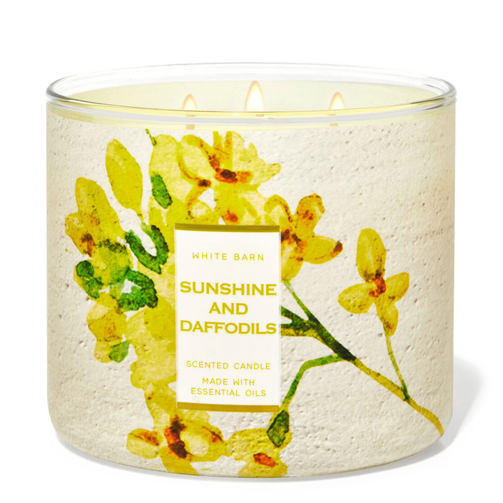 Nến thơm Bath & Body Works White Barn Sunshine And Daffodils, 411g