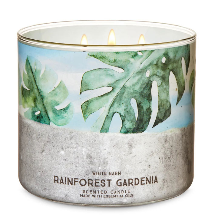Nến thơm Bath & Body Works White Barn Rainforest Gardenia, 411g