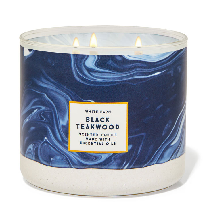 Nến thơm Bath & Body Works White Barn Black Teakwood, 411g