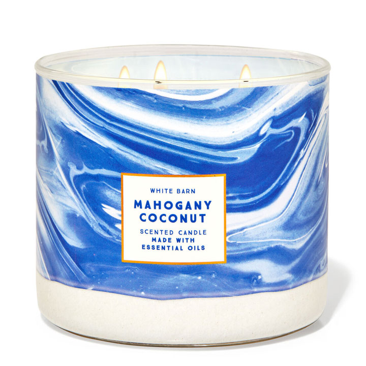 Nến thơm Bath & Body Works White Barn Mahogany Coconut, 411g