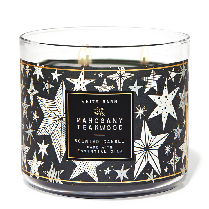 Nến thơm Bath & Body Works White Barn Mahogany Teakwood, 411g