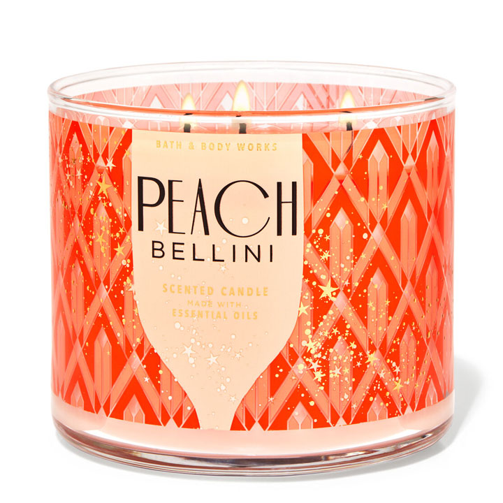 Nến thơm Bath & Body Works Peach Bellini, 411g
