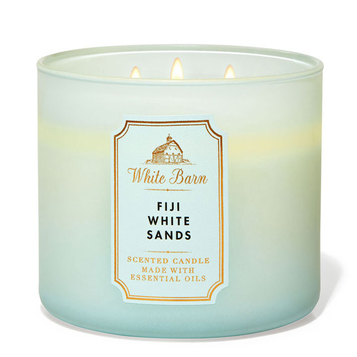 Nến thơm Bath & Body Works White Barn Fiji White Sands, 411g