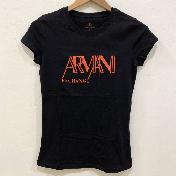 Áo Armani Exchange Graphic Crewneck T-Shirt - Black/ Orange, Size S
