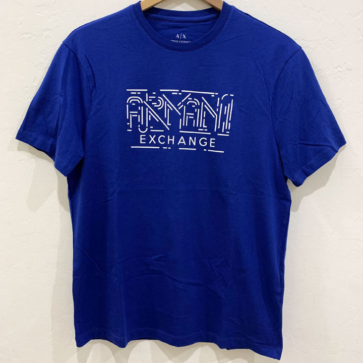Áo Armani Exchange Graphic Crewneck T-Shirt - Blue/ White, Size M