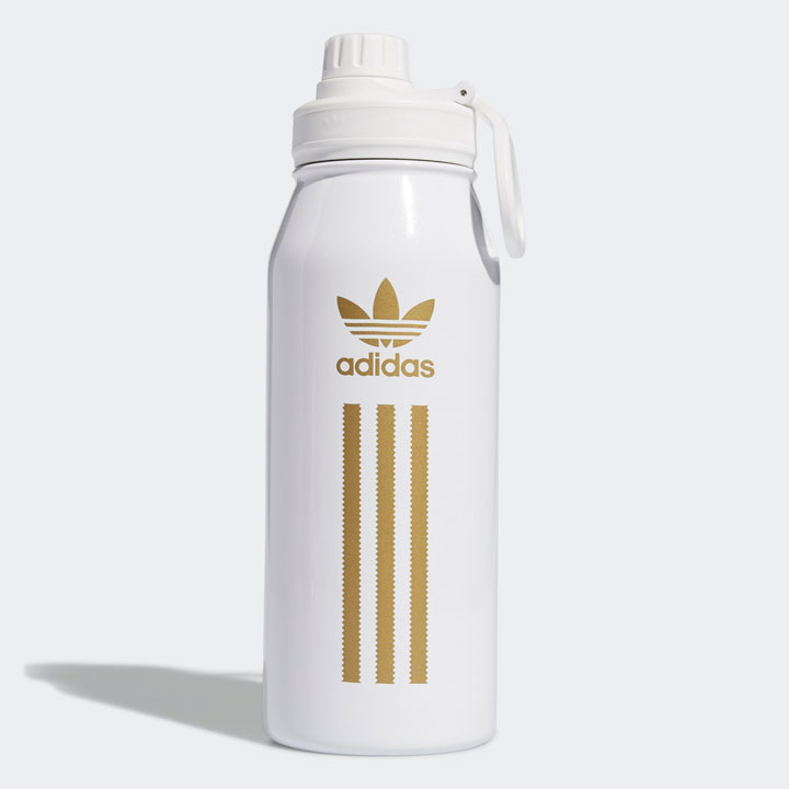 Bình giữ nhiệt Adidas Lifestyle Steel Metal - White/ Gold, 1L