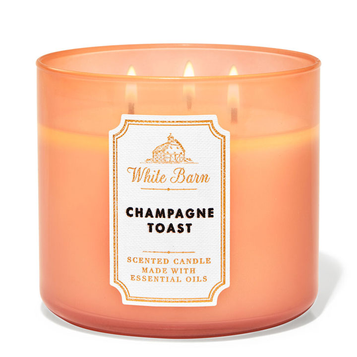 Nến thơm Bath & Body Works White Barn Champagne Toast, 411g