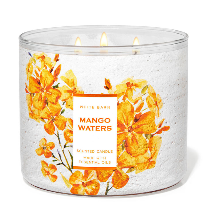 Nến thơm Bath & Body Works White Barn Mango Waters, 411g