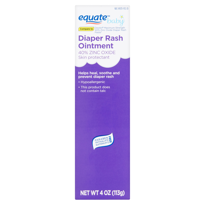 Equate Baby Diaper Rash Ointment, 113g