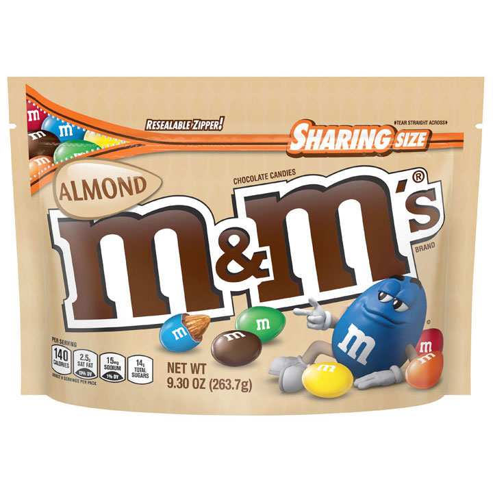 Kẹo M&M's Chocolate Sharing Size - Almond, 263.7g