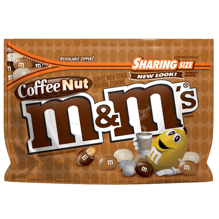 Kẹo M&M's Chocolate Sharing Size - Coffee Nut, 272.2g