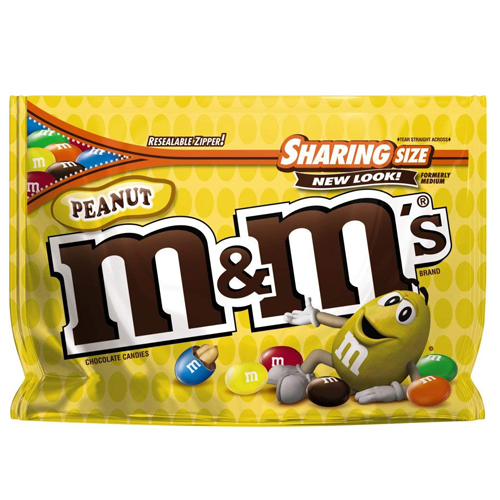 Kẹo M&M's Chocolate Sharing Size - Peanut, 303.3g