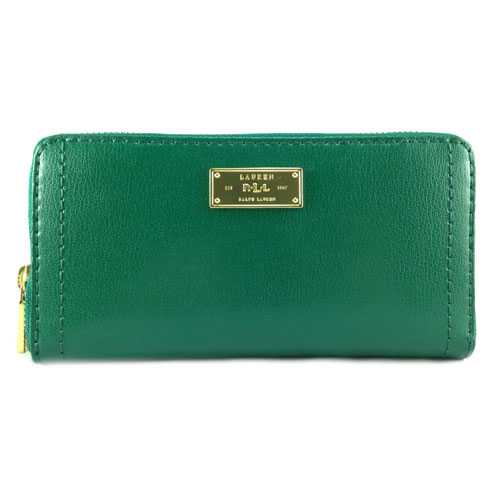 Ví Ralph Lauren Chiswell Zip Around, màu Emerald