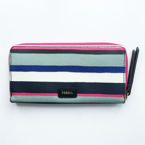 Fossil Eliza Clutch Multi Stripe, Blue