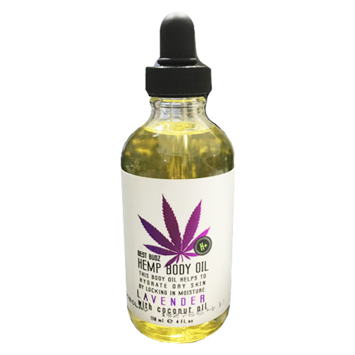 Best Budz Hemp Body Oil Lavender With Coconut Oil, 118ml