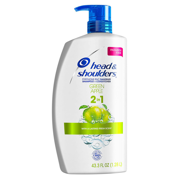 Dầu gội xả Head & Shoulders Green Apple 2in1, 1.28L