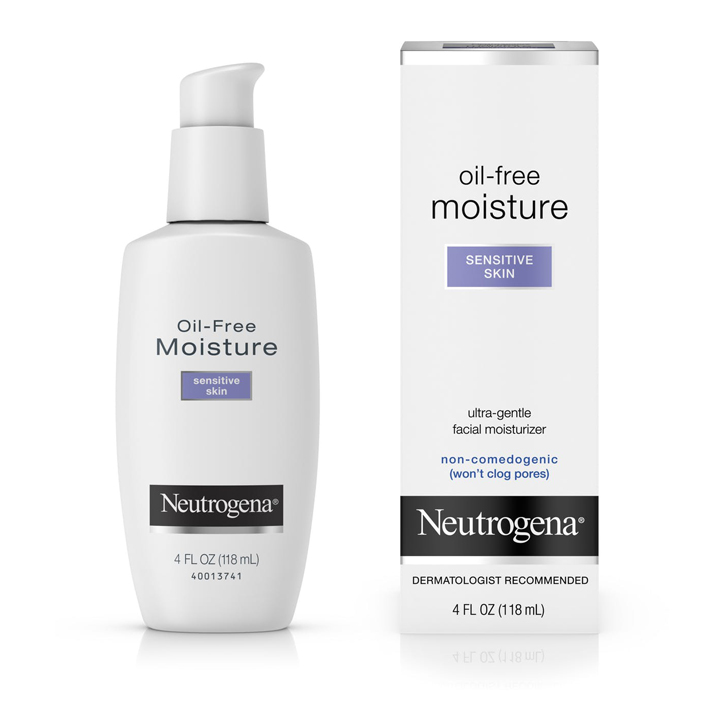 Neutrogena® Oil-Free Face Moisturizer for Sensitive Skin, 118ml