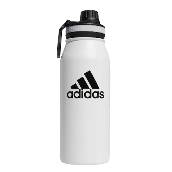 Bình giữ nhiệt Adidas Stainless Steel - White/Black, 1L