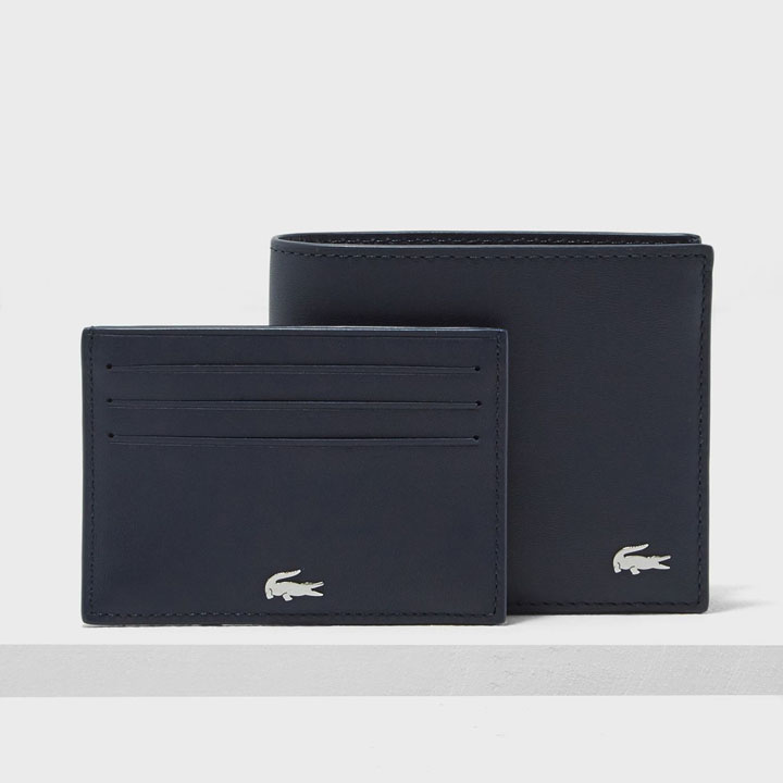 Lacoste Fitzgerald Leather Wallet And Card Holder Set