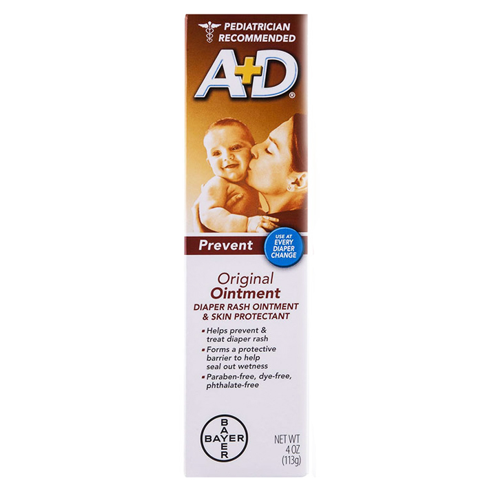 A+D Original Diaper Rash Ointment & Skin Protectant - Prevent, 113g