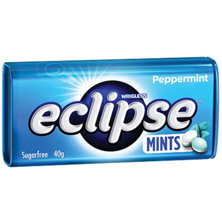 Wrigley's Eclipse Sugarfree Mints Peppermint, 40g