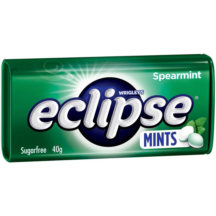 Wrigley's Eclipse Sugarfree Mints Spearmint, 40g