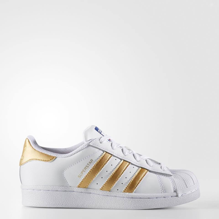 Adidas Youth Originals Superstar - Could White/ Gold Metallic, Size 36